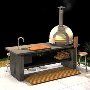 KitchenBox עמדת עבודה עם טאבון Bravo 60