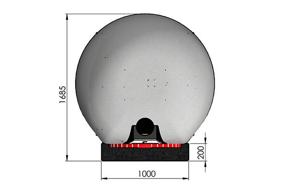 Rotativo 100 Cupola  mensola piccola